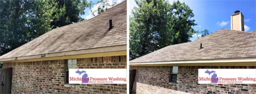 Roof cleaning and House washing in Commerce, MI